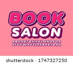 vector bright logo book salon... | Shutterstock .eps vector #1747327250