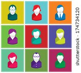 set of business people icons | Shutterstock .eps vector #174734120