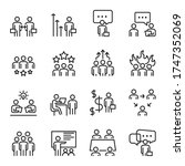 people icons  vector line set ... | Shutterstock .eps vector #1747352069