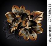 vintage luxury seamless floral...   Shutterstock .eps vector #1747356383