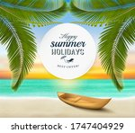 summer holidays background.... | Shutterstock .eps vector #1747404929