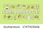 farm production word concepts...