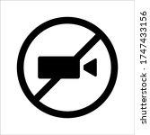 video camera vector icon on...