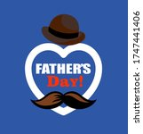 fathers day background design  ... | Shutterstock .eps vector #1747441406
