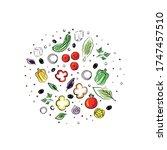 hand drawn vector illustration... | Shutterstock .eps vector #1747457510