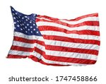 american flag waving in the... | Shutterstock . vector #1747458866