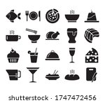 coffee and restaurant set icons ... | Shutterstock .eps vector #1747472456
