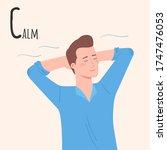 alphabet emotions concept. man...   Shutterstock .eps vector #1747476053