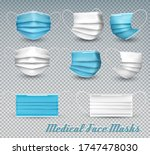 collection of a blue and white... | Shutterstock .eps vector #1747478030
