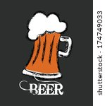 beer design over black ... | Shutterstock .eps vector #174749033