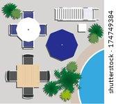 outdoor furniture for landscape ... | Shutterstock .eps vector #174749384
