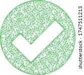 web mesh valid vector icon....