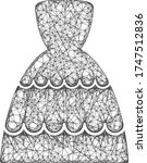 web net bride dress vector icon.... | Shutterstock .eps vector #1747512836
