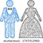 web net groom with bride vector ... | Shutterstock .eps vector #1747512983