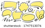 set of hand drawn comic think... | Shutterstock .eps vector #1747513076