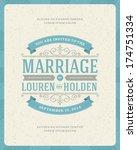 wedding invitation card... | Shutterstock .eps vector #174751334