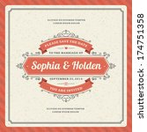 wedding invitation card... | Shutterstock .eps vector #174751358