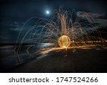 Fireball On The Beach Under The ...