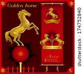 golden horse   Shutterstock .eps vector #174752840