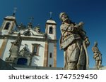 Small photo of Congonhas do Campo, Minas Gerais / Brazil - 03/07/2007: The Sanctuary of Bom Jesus de Matosinhos, adorned with sculptures by Antonio Francisco Lisboa, the Aleijadinho, work known as 12 Prophets