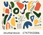 hand drawn various shapes and... | Shutterstock .eps vector #1747542086