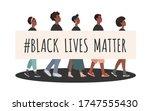 black lives matter. group of... | Shutterstock .eps vector #1747555430
