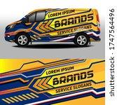 van livery vector design. car... | Shutterstock .eps vector #1747564496