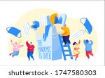 characters celebrate end of... | Shutterstock .eps vector #1747580303