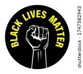 black lives matter blm protest... | Shutterstock .eps vector #1747582943