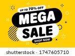 mega sale banner  special offer ... | Shutterstock .eps vector #1747605710