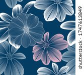 seamless floral pattern with... | Shutterstock .eps vector #1747613849