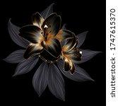 vintage elegant luxury gold...   Shutterstock .eps vector #1747615370