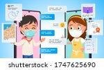 distant online education... | Shutterstock .eps vector #1747625690