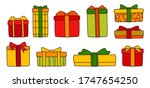 present box flat colorful line...   Shutterstock .eps vector #1747654250