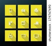 flat media icon set   vector...
