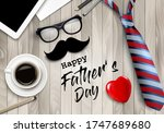 happy holiday fathers day... | Shutterstock .eps vector #1747689680