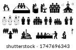 christian religion practices... | Shutterstock .eps vector #1747696343