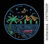 beach sea nature wild badge... | Shutterstock .eps vector #1747704239