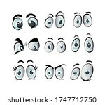 set cartoon eye in vector high...   Shutterstock .eps vector #1747712750