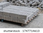 Bricks Stacked On Wooden Pallet ...