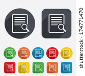 search in file sign icon. find... | Shutterstock .eps vector #174771470