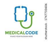 medical code vector logo... | Shutterstock .eps vector #1747733606