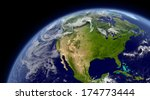 north america viewed from space ... | Shutterstock . vector #174773444