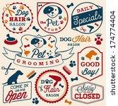 collection of pet hair salon... | Shutterstock .eps vector #174774404