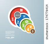 circle business steps... | Shutterstock .eps vector #174776414