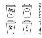 set of medical waste containers....   Shutterstock .eps vector #1747773383