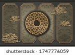 3d illustration  ornamental... | Shutterstock . vector #1747776059