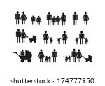 people family icon pictogram... | Shutterstock .eps vector #174777950