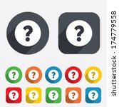 question mark sign icon. help... | Shutterstock .eps vector #174779558