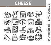 cheese dairy food collection... | Shutterstock .eps vector #1747800113